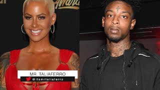 """21 Savage Says No Disrespect Will Be Tolerated Towards Amber Rose, """"If You Do I'm Pulling Up On God"""" Resimi"""