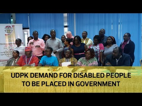 UPDK demand for disabled people to be placed in government