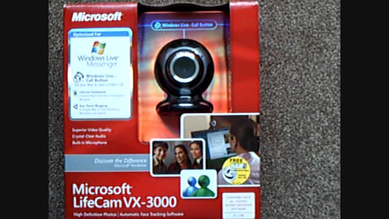Microsoft lifecam vx 3000 драйвер скачать