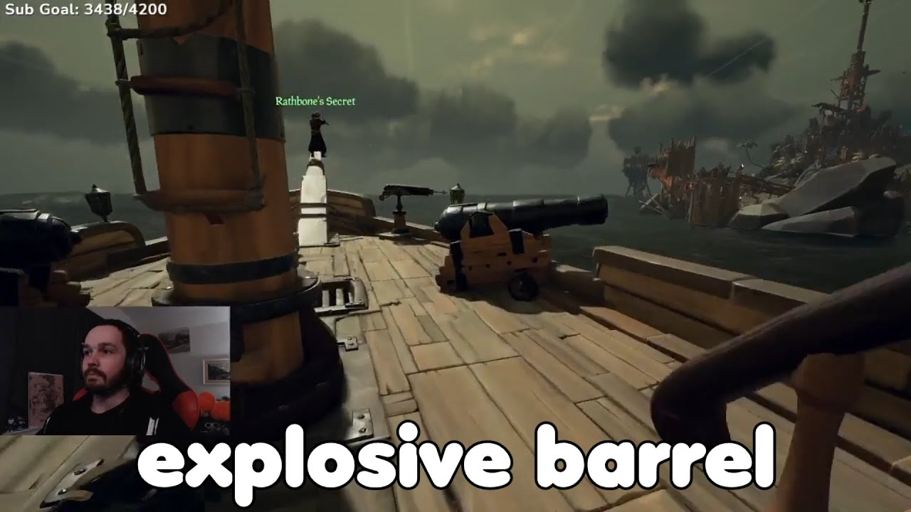 when you forget to mute your mic in sea of thieves...