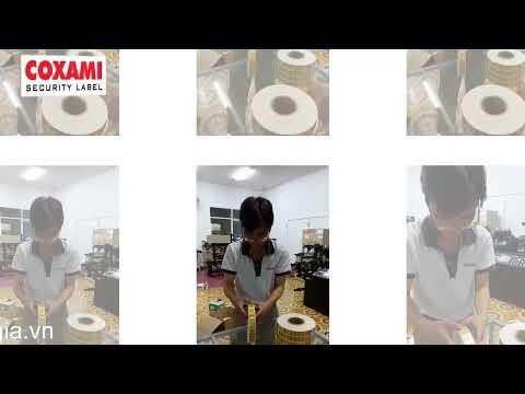 tem chống hàng giả Coxami uy tín chất lượng giá in tại xưởng