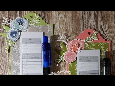 Mini Wall Calendar Mit Produkten Von Stampin Up Youtube
