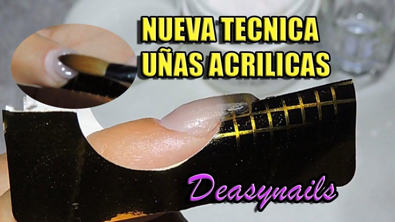 NUEVA TECNICA UÑAS ACRILICAS - como hacer uñas acrilicas ...