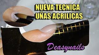 NUEVA TECNICA UÑAS ACRILICAS - como hacer uñas acrilicas correctamente Deasynails