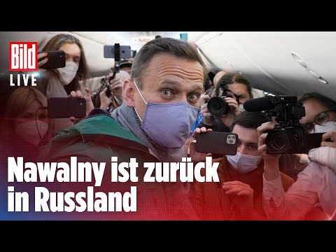 🔴 Kreml-Kritiker Nawalny nach Landung festgenommen  BILD LIVE