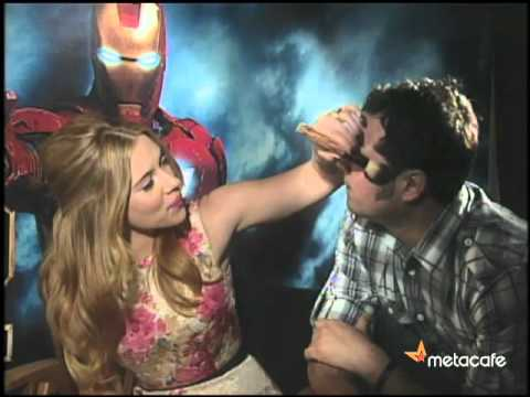 Scarlett Johansson interview, slumber party style Iron Man 2 | Metacafe Unfiltered