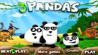 3 Панды Новый игровой Мультфильм Спасаемся от пиратов и туземцев Приключения на острове