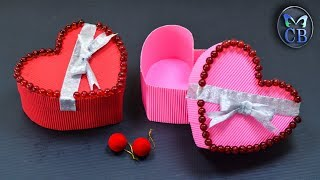 Diy Heart shaped gift box | Valentinesday gift ideas | paper craft home decors