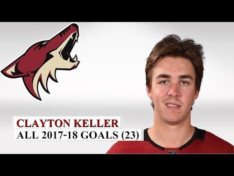 Clayton Keller (#9) All 23 Goals of the 2017-18 NHL Season