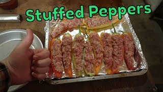 Cooking Stuffed Peppers On My Pellet Grill