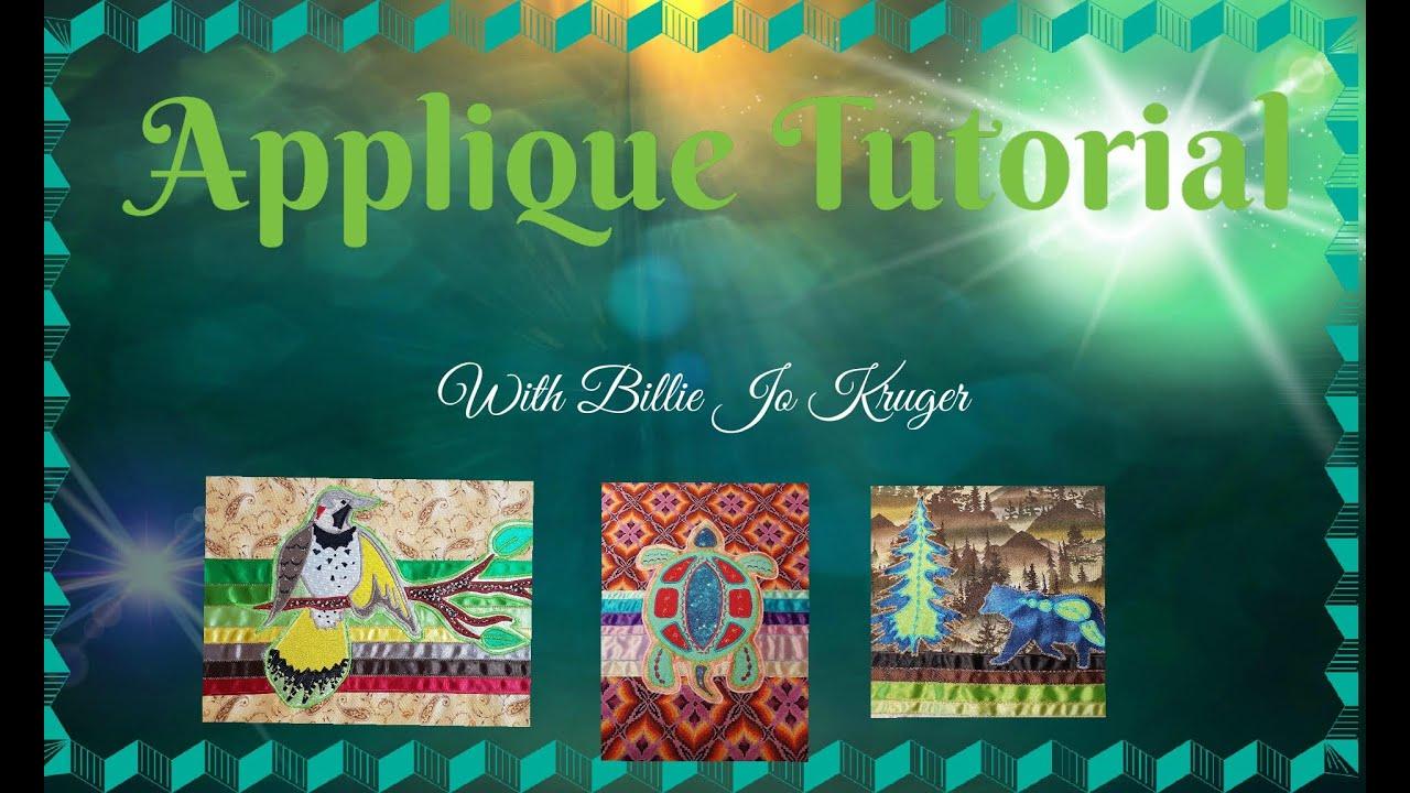 Ribbon skirt applique tutorial with billie jo kruger youtube