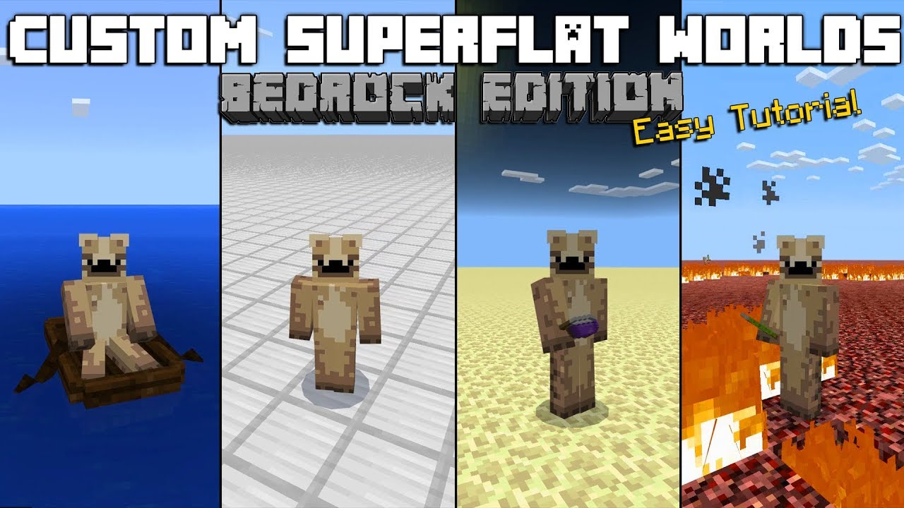How To Make Custom Superflat Worlds On The Bedrock Edition Of  Minecraft!(2018)