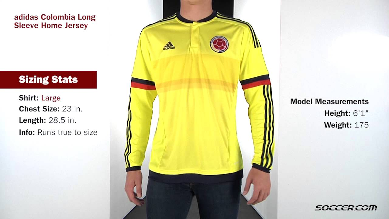 adidas Colombia Long Sleeve Home Jersey - YouTube fa06fbe3a
