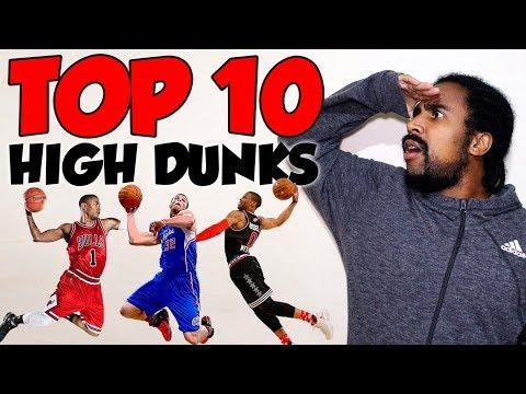 TOP 10 ENTERRADAS NAS ALTURAS - THE HIGHEST NBA DUNKS EVER!!!