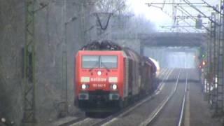BR189 bei Bonn Villich Müldorf nach Koblenz und BR143 Sandwich mit Dostos nach Köln