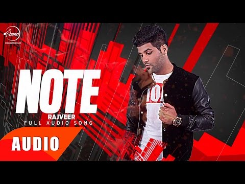 Note | (Full Audio Song) | Rajveer | Punjabi Song Collection | Speed Records