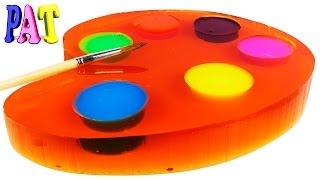 #Желейная палитра с красками из #слизи #Jelly palette with colors of mucus