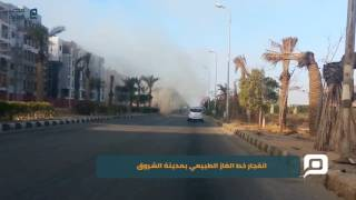 بالفيديو والصور.. انفجار خط الغاز الطبيعي بمدينة الشروق
