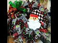 How to make a poof with ruffles and curls Santa wreath