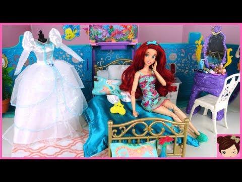 Barbie Little Mermaid Ariel Wedding Morning Routine – Rapunzel Hair Salon