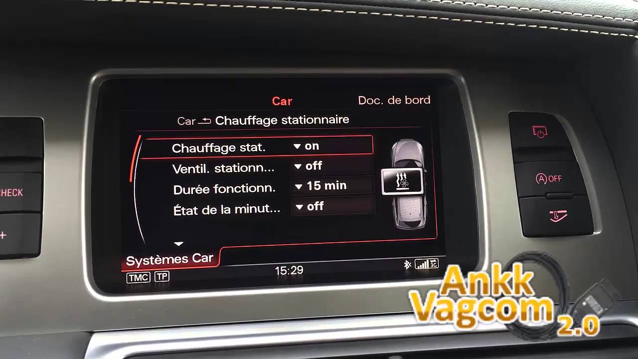 Audi Q7 4l Enable Parking Heater Youtube