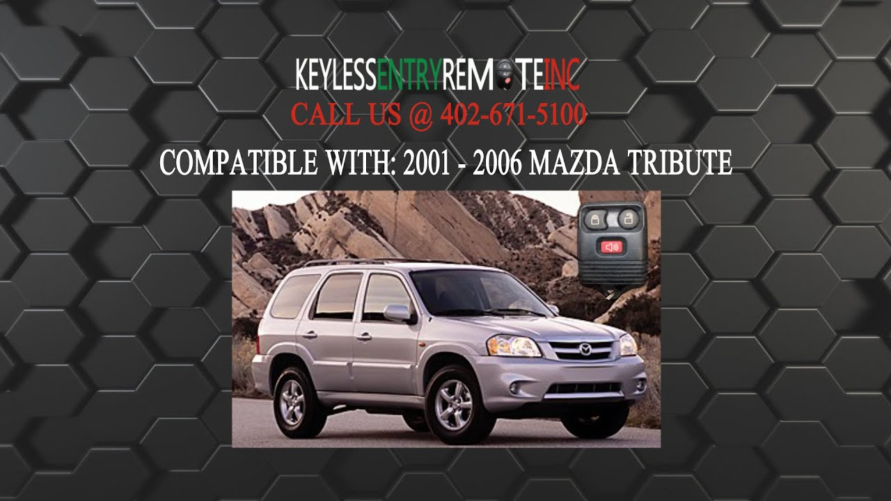 How To Replace Mazda Tribute Key Fob Battery 2001 2006