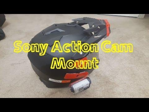 Sony Action Cam DIY Helmet Mount Yamahamian89