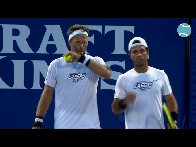 New York Empire vs. Springfield Lasers 2020 with Kim Clijsters and Jack Sock | World TeamTennis