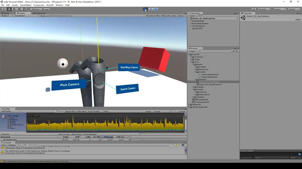 VR Capture Unity Plugin - Vive v1 1 0