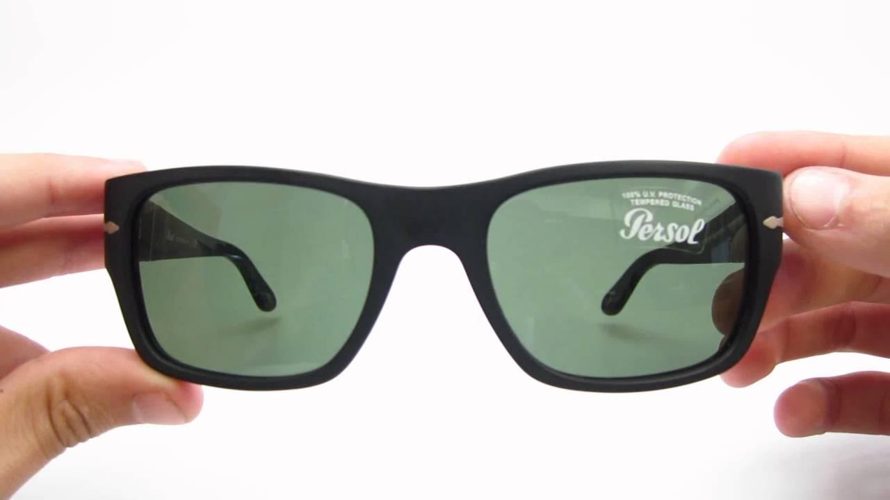 f34d97957fa5a Unboxing Persol PO 3021S Matte Black 900 31 56MM Sunglasses - YouTube