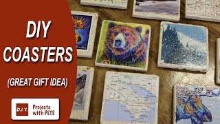 How to Make Coasters - DIY Gift Ideas