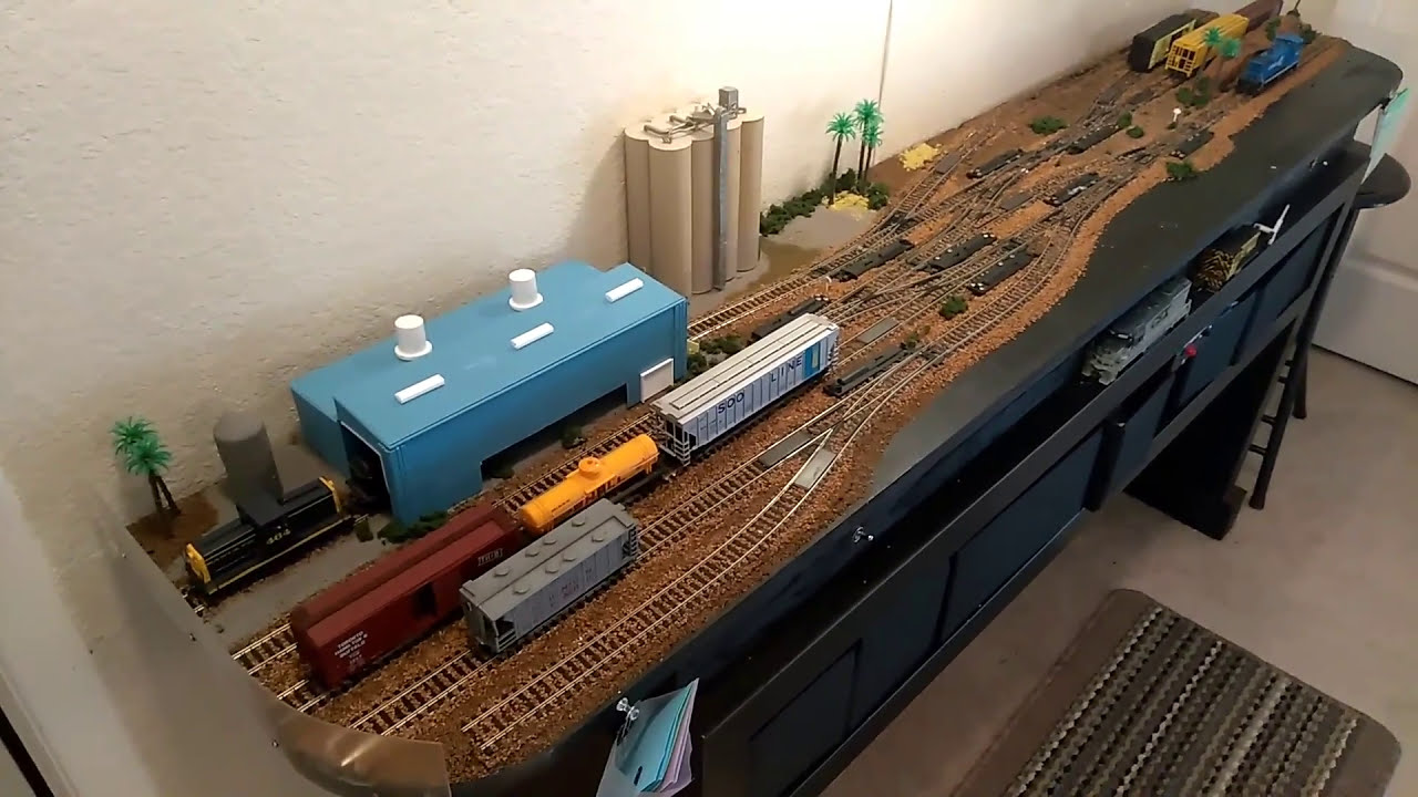 Switching Shelf Model Railroad In Ho Youtube