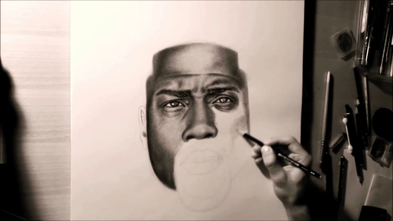 Kevin hart speed drawing