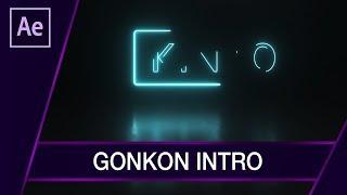 Jak zrobić Intro inspirowane GonKon 2018? Neon Intro ▪ After Effects #60 | Poradnik ▪ Tutorial