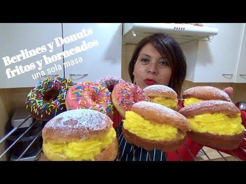 BERLINES Y DONUTS/ FRITOS Y HORNEADOS/ UNA MASA/ Silvana Cocina ❤