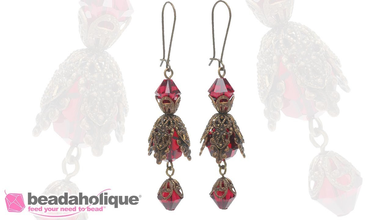 How To Make Vintaj And Swarovski Crystal Earrings