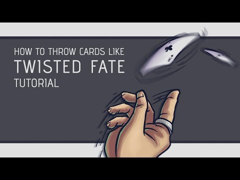 How to throw cards with speed and accuracy