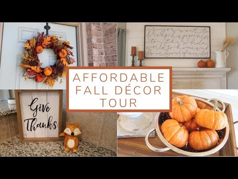 Affordable Fall Home Décor Tour | 2018