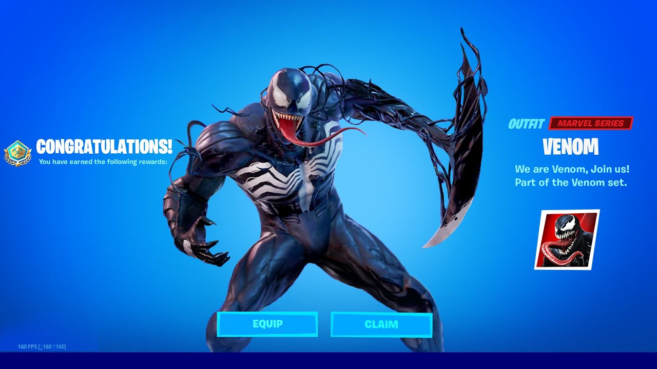 Claim Free Venom Skin Now In Fortnite Youtube Preview 3d models, audio and showcases for fortnite: claim free venom skin now in fortnite