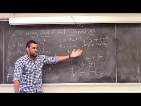 Math 1203-R03 Lecture 21 - Attacking the area problem - Integrals, Antiderivatives, and the FTC