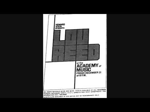 Lou Reed: Academy Of Music 12/21/1973 (Soundboard Recording/Both Sets)