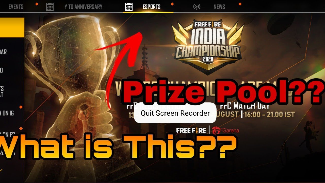 What is Free Fire India Championship🏆||How to register In free fire India championship 2020||•