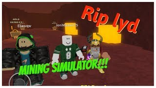 RIP SOUND SO WE TALKED!!!! Mining Simulator English Roblox
