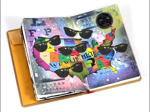 Great American Eclipse Art Journal Layout