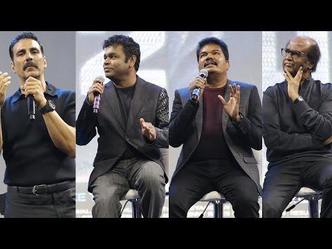 2.0 Launch | Rajini, Shankar, Rahman & Akshay's interaction - Full Video