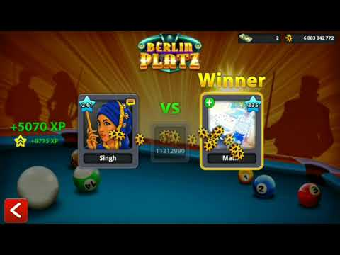 8ball pool Berlin plaza 50M worst player I meet ever