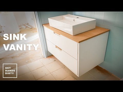 How to Make a Bathroom Sink Vanity Unit // Tiny Apartment Build - Ep.1