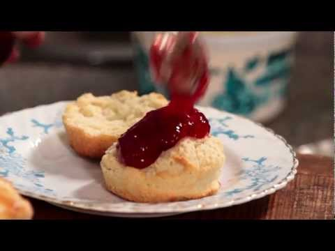 Scones with Rodda's Cornish clotted cream and strawberry jam