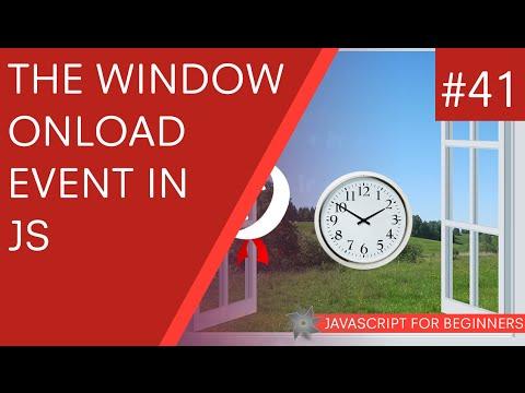 JavaScript Tutorial For Beginners #41 - Window onLoad Event