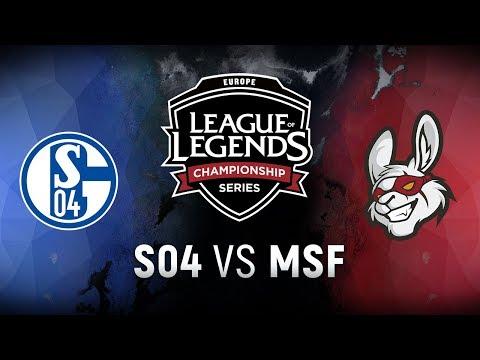 S04 vs. MSF - Week 6 Day 1 | EU LCS Spring Split |  FC Schalke 04 vs. Misfits Gaming (2018)